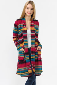 Miley Serape Print Knit Cardigan