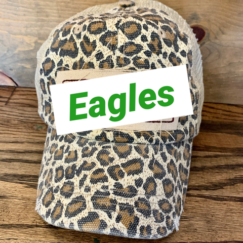 Leopard Mascot Hat ||  Green Eagles