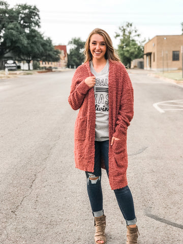 The Boucle Knit Long Cardigan