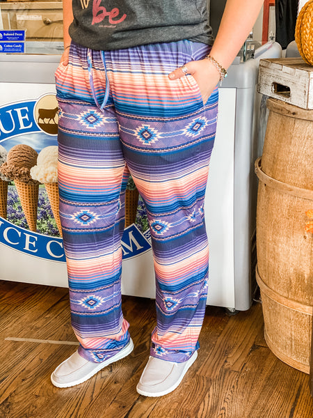 I'll Be Your Huckleberry Serape Lounge Pants