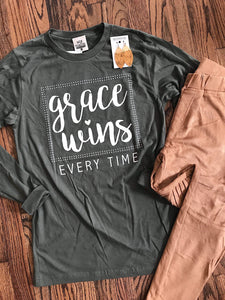 Grace Wins Every Time LS Tee