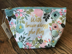 Carryall Mini in Peach Floral Brave Wings