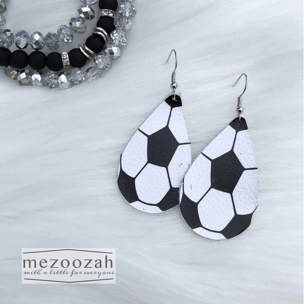 Sports (Basketball, Volleyball, & Soccer) Teardrop Earrings