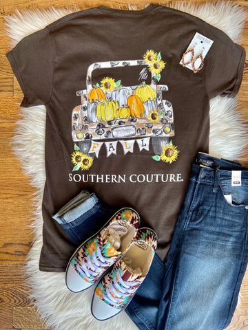 Fall Leopard Truck T-Shirt