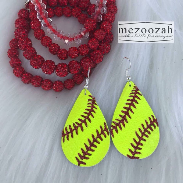 Sports (Baseball & Softball) Teardrop Earrings