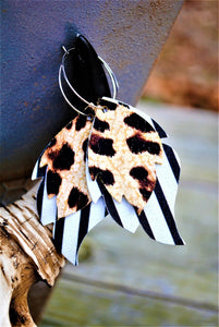 Leopard and Stripe Earrings