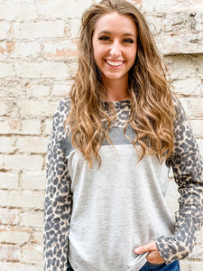 Sloane Leopard + Mix Top