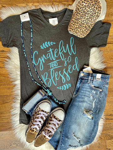 Grateful and So Blessed Tee