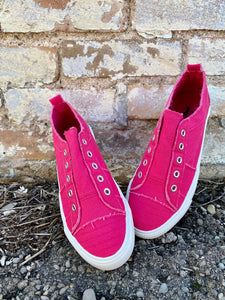 Babalu Slip On Shoes || Hot Pink