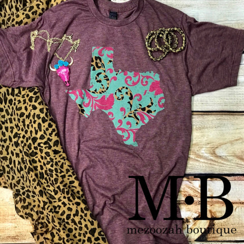 Texas Turquoise Floral Tee