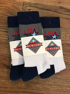 Burlebo Grey USA Socks