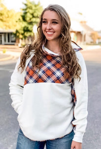 The Fleece Plaid Pullover