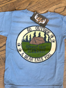 Go Outside, Worst Case Scenario Kid's Tshirt