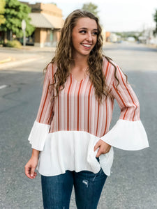 The Molly Pleated Contrast Top