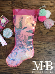 Christmas Stocking With Pom Poms