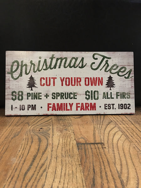 Assorted Christmas Signs Wall Hanging