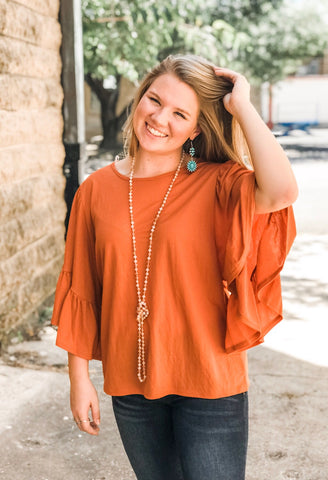 The Stacie Ruffle Sleeve Top