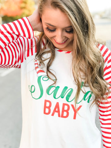 Santa Baby Striped Top