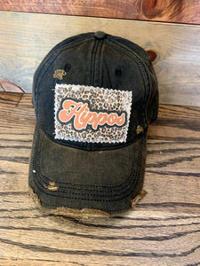 Leopard Team Spirit Distressed Black Hat || Hippos