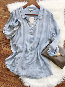 The Demi Chambray Tunic