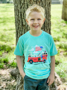 Firetruck Short Sleeve Kid's T-Shirt