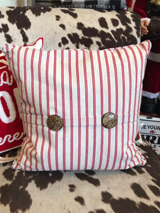Red Stripe Square Pillow