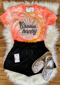 Choose Happy Bleached Vintage Tee
