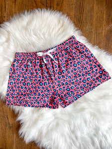 Coral Leopard Lounge Shorts