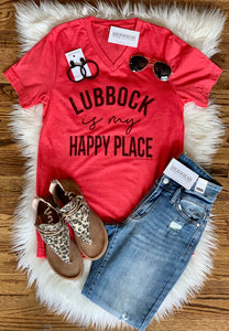My Happy Place Tee || Lubbock
