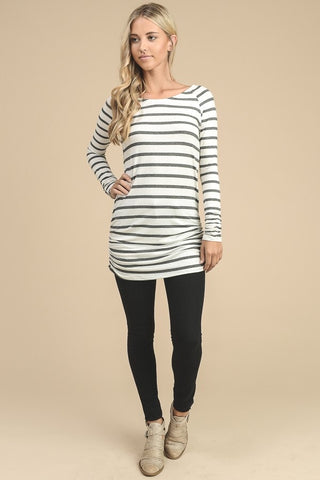 The Laura Striped Long Sleeve Tunic