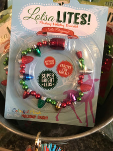 Jingle Bell Flashing Light Bracelet