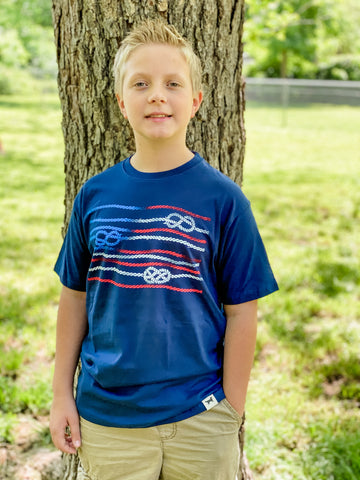Knots Flag Short Sleeve Kid's T-Shirt