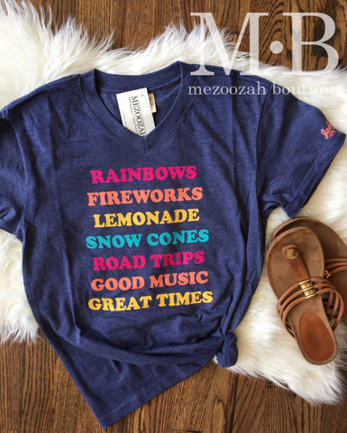Rainbows Fireworks Tee