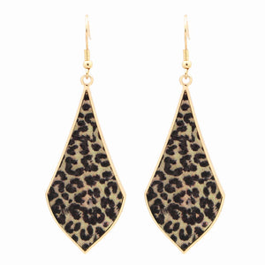 Annie Leopard Gold Earrings