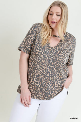 The Leopard Cut-Out Top