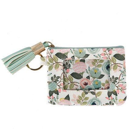 Peach Floral ID Wallet