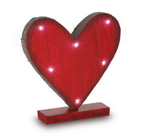 Light Up Red Heart on Stand