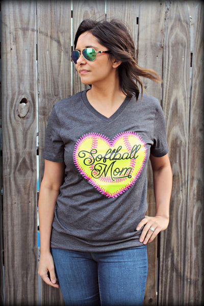 Softball Mom Heart Tee
