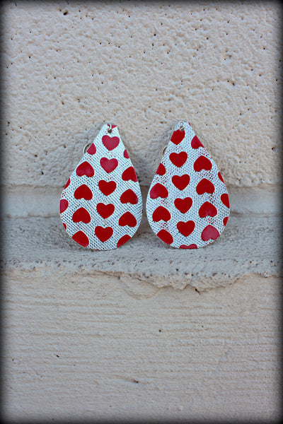 Cupid Heart Teardrop Earrings