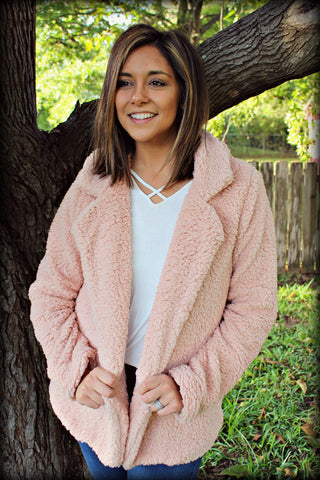 The Blush Teddy Jacket