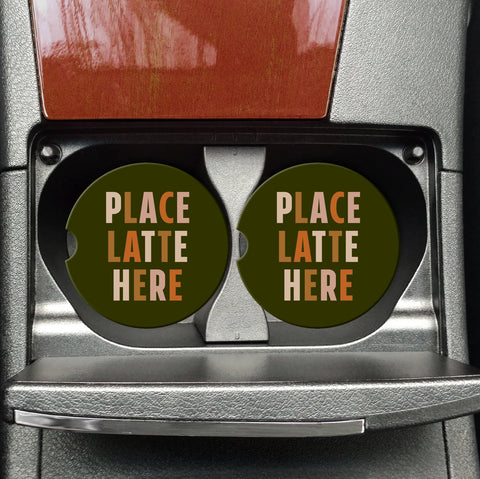 Place Latte Here Coasters