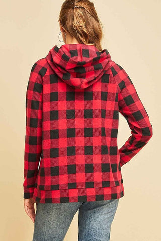 Buffalo Plaid Hooded Pullover
