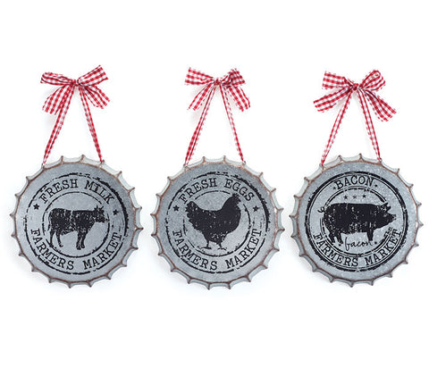 Bottle Cap Farm Wall Hanging