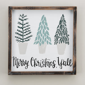 Merry Christmas Y'all Framed Board