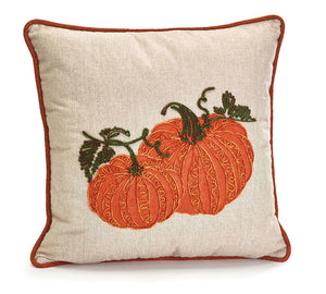 Square Pumpkin Pillow - Autumn Hayride