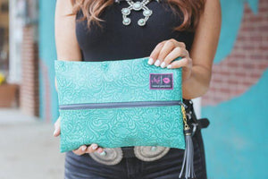 Turquoise Dream Makeup Junkie Bag
