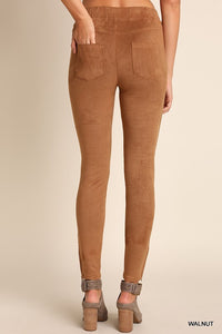 The Elle Suede Moto Jeggings