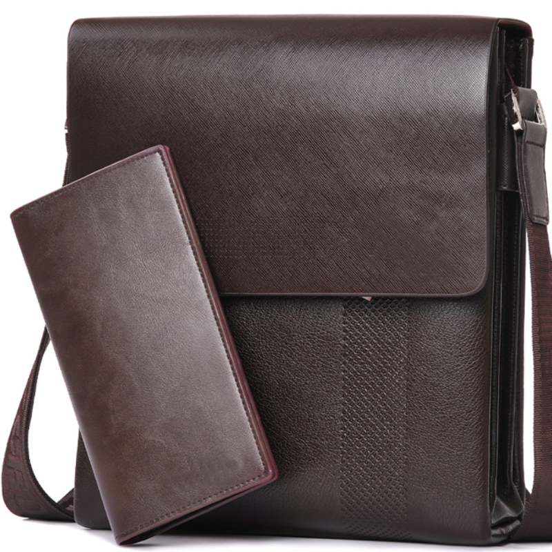 Leather Men Messenger Bags-New Arrival Fashion Business