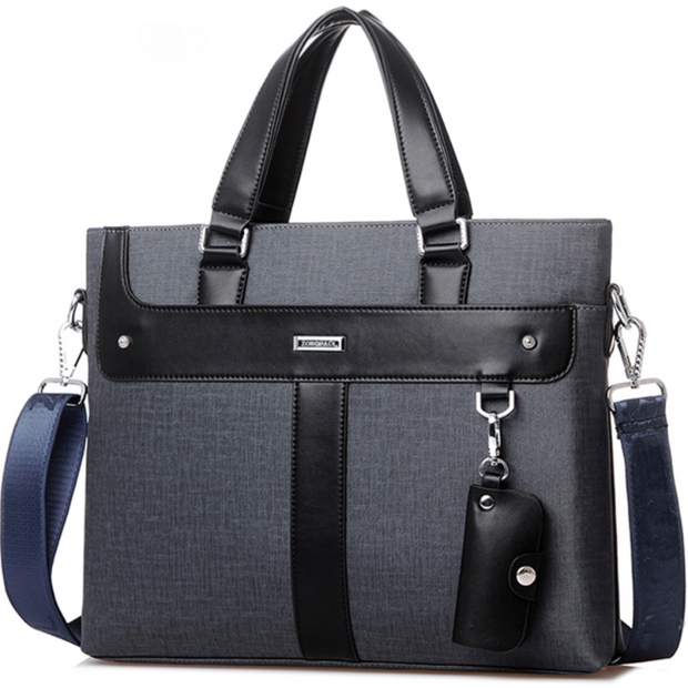 Leather Soft Handbag Volume Business Briefcase For Men