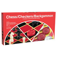Chess, Checkers, and Backgammon (Folding Board) - On the Table Games
